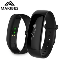 Makibes M88 Bluetooth Smart Band Bracelet Watches Blood Pressure Heart Rate Monitor Sleep Monitor Fitness Tracker PK ID107(China)