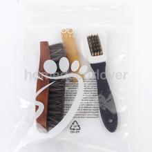 Footful 85% horsehair Polish Clean Brush Rubber Eraser for Suede Nubuck Shoes