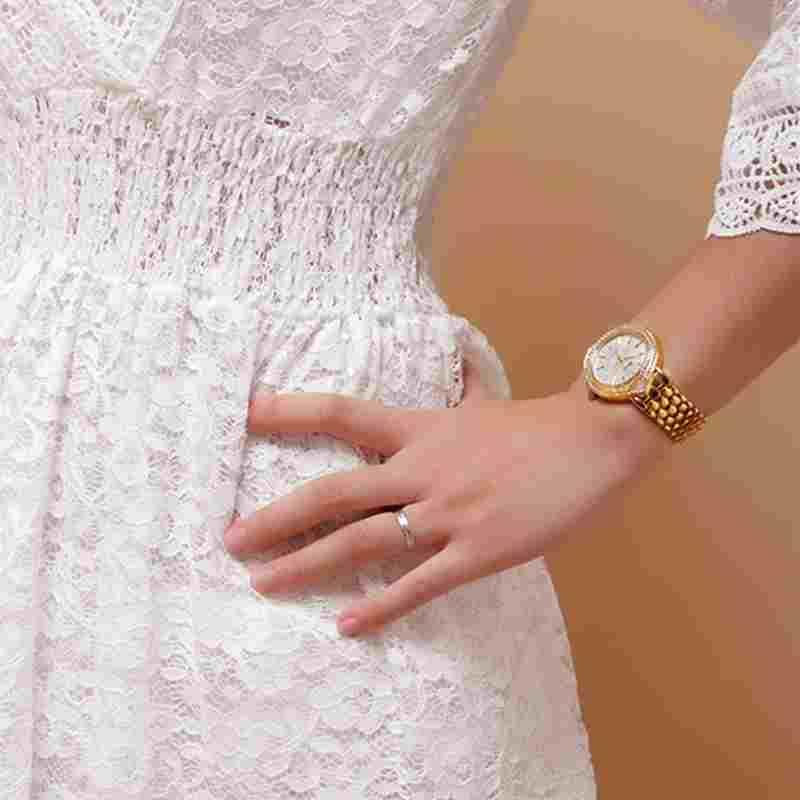 BELBI Rhinestone Women Stainless Steel Quartz Watch for Ladies Dress Watch<br>
