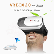 "New Google cardboard HeadMount VR BOX 2.0 VR Virtual 3D Glasses for 3.5"" - 6.0"" Smart Phone + Bluetooth Remote Controller"
