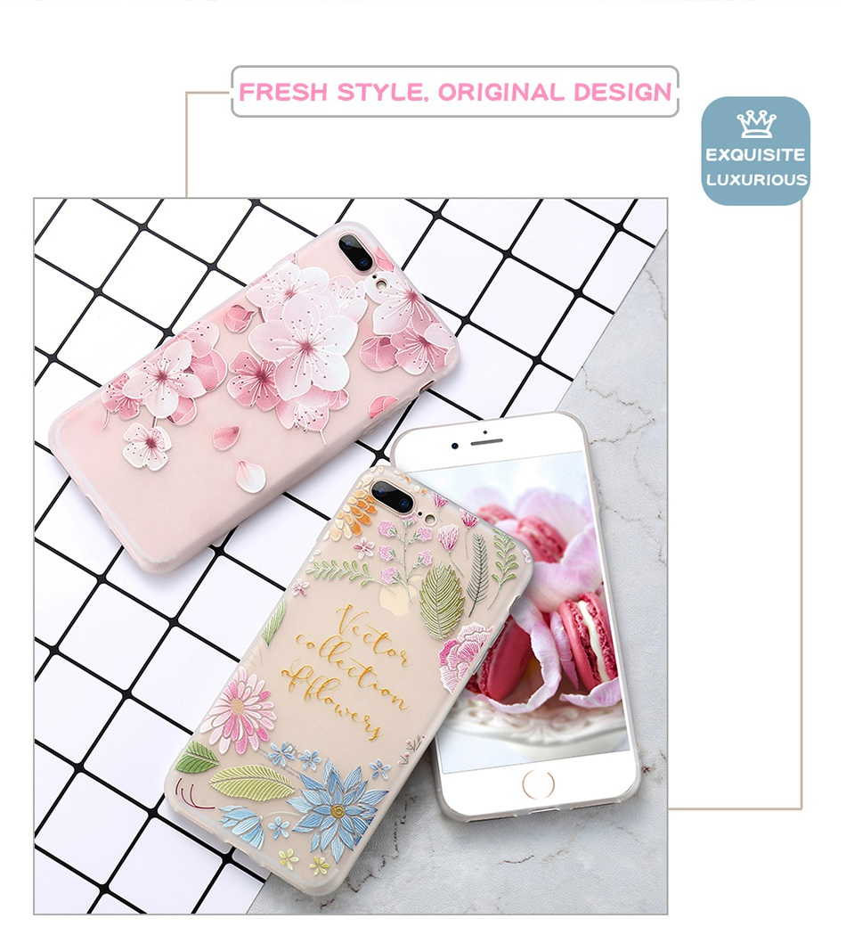 For iPhone 6 6S iPhone 7 Plus Soft TPU Silicon Phone Cover (2)
