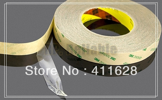 1x Original New 25mm*55M Strong Adhesion Clear Two Sides Adhesive Tape for LED LCD Frame, Display Waterproof, 3M9495MP<br>