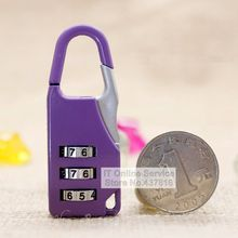 1PCS 3 Digit Combination Password Padlock Luggage Suitcase Zipper Bag Cabinet Drawer Mini Padlock 800815