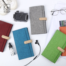 Kinbor Fashion Travel Journal Diary Notebook Planner Cloth Cover Notepad Portable Pocket Notebook Gift School Office Supplies