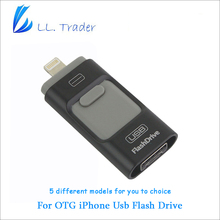 LL TRADER 64/128/256G Storage Memory Stick OTG Usb 2.0 Flash Drive For iOS iPhone 7/iPhone 6/iPad Mini/iPad Air/Android Phone/PC