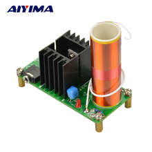 Aiyima 24V 15W Mini Music Tesla Coil Plasma Speaker Tesla Wireless Transmission Diy Board(China)