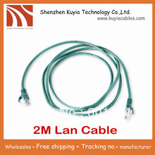 10pcs/lot!!Free shipping Wholesale 2m ethernet cable patch cord for your great networking link between pc and pc