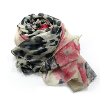 Fashion Women's Multicolor Leopard Printing Scarf Long Scarves Spring Autumn Viscose Bandana Scarf Soft Beach Shawl Gift