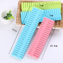 4Pcs/Set DIY  Plastic Grid Drawer Divider Household Necessities Storage Organizer Home Space-saving Tools