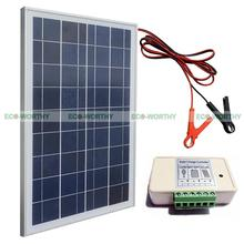 25W Poly Solar Panel Kit W/ High Quality battery clip& 3A controller For Camping(China)
