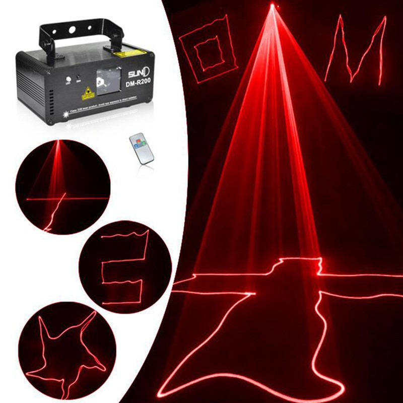 2016 Remote DMX512 RED 200mW Laser Light Professional Stage Lighting Scanner DJ Party Show Xmas Light LED Effect Projector Disco<br><br>Aliexpress