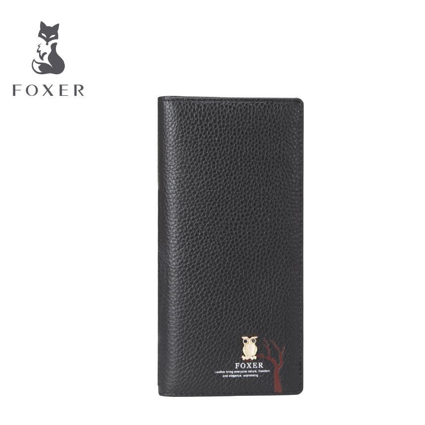 FOXER New women leather bag brands fashion Superior cowhide women purse fashion long women wallets<br><br>Aliexpress