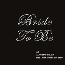 20pcs/lot Wedding Bride to Be Rhinestone Diamante Transfer Iron On Hotfix Gem T-Shirt Motif