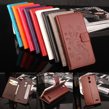 HongBaiwei Vernee Thor Case Cover Flip Luxury Leather Case Flower Pattern Card Slot Wallet Phone Bag Case for Vernee Thor