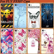 Newest Popular Case For Fly Cirrus 4 FS507 soft tpu Cover Beautiful Blue Rose Flower Painted For Fly FS507 TPU case cover Shell