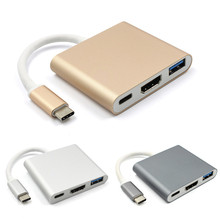 Type C USB 3.1 to USB-C 4K HDMI USB3.0 Adapter 3in1 Hub For Apple Macbook USB 3.1 Type C HDMI Adapter HUB
