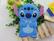 Cute 3D Cartoon Lilo Stitch Soft Silicone Case For Samsung Galxy S3 SIII i9300 Fundas Rubber Silicon Cover Cell Phone cases(China)