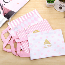 New Promotional Gift Candy Color Kawaii Cartoon Pink Mesh Creative Hand Bag Shopping Bag