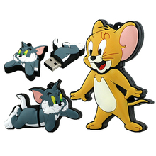 Silicone Usb Flash Drive 4GB 8GB 16GB 32GB 64GB Cartoon Tom and Jerry Pen Drive USB Flash Memory Card Best Gift