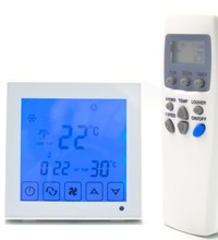 Fan 4p 7 days program Digital heating cooling Thermostat controller with Infrared control(China)