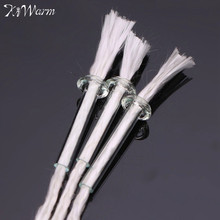 KiWarm 3PCS 12cm High Quality Round Cotton Wick with Glass Holders For Glass Bottle Lamps Kerosene Stove Oil Lamps Wick Material