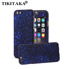 3D Stars Frosted Case For iPhone 5 5s SE 6 6S 7 Plus Ultra thin Hard PC 360 Full Body Protection Coque Front Cover + Glass Film