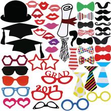 46pcs Graduation Party Decoration Photo Booth Props Paperboard Bachelor Cap Certificate Party Photo Props Decor(China)