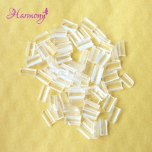 Free shipping 200pcs Nail Tip Keratin Glue Transparent Color U Tip Hair keratin nail tip glue for Hot Fusion Pre Bonded Hair