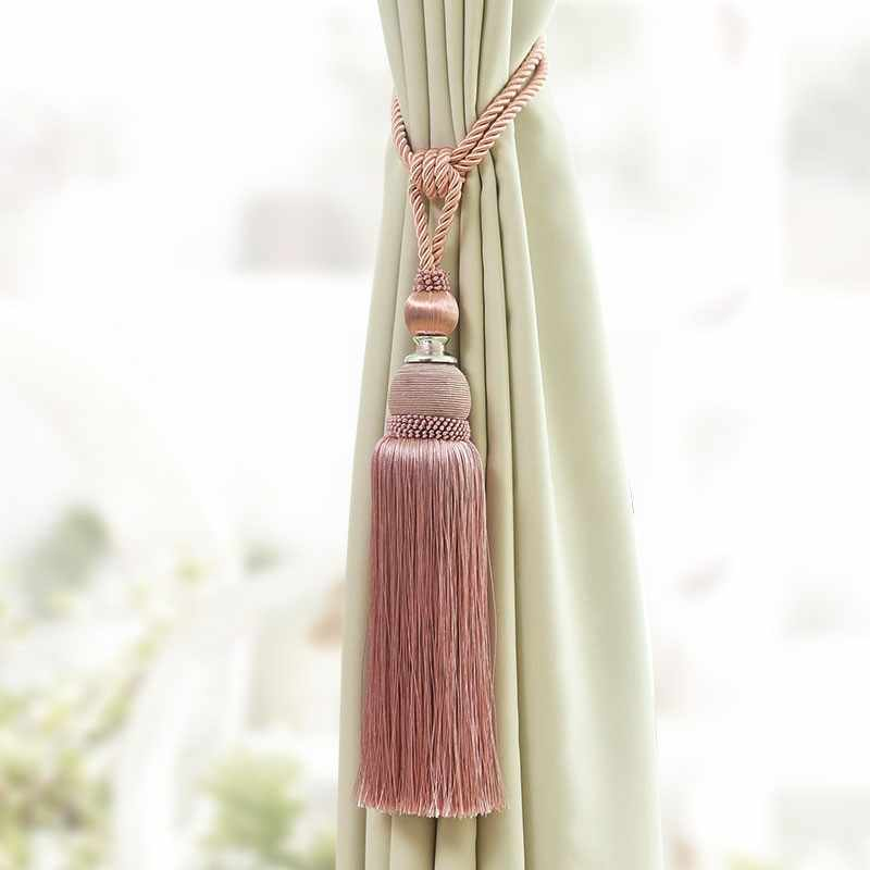 1PCS Accessory Home Window curtain clip accessories Hanging Belt Ball curtain strap khaki red Curtain tassel tieback CP085 *30