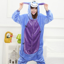 2017 Autumn and winter Cartoon animals Cute Donkey Pajamas for Women adult Long sleeve Pajama sets