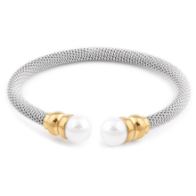 Fashion Imitation Pearl Bracelets& Bangles For Women Gold Color Stainless Steel Luxury Bangles For Women Jewelry