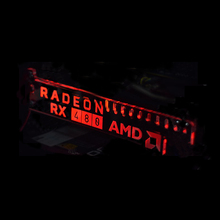 New Red G8 Extended Version For RADEON RX 480 AMD LED Luminous Computer Main Box Graphics Cards Support Frame Display Card HIS