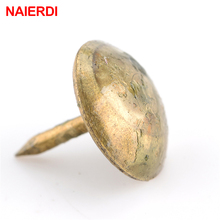 50PCS NAIERDI 8.5x16mm Bronze Tacks Antique Decorative Jewelry Gift Box Push Pin 10x10mm Door Nail For Fasteners Hardware(China)