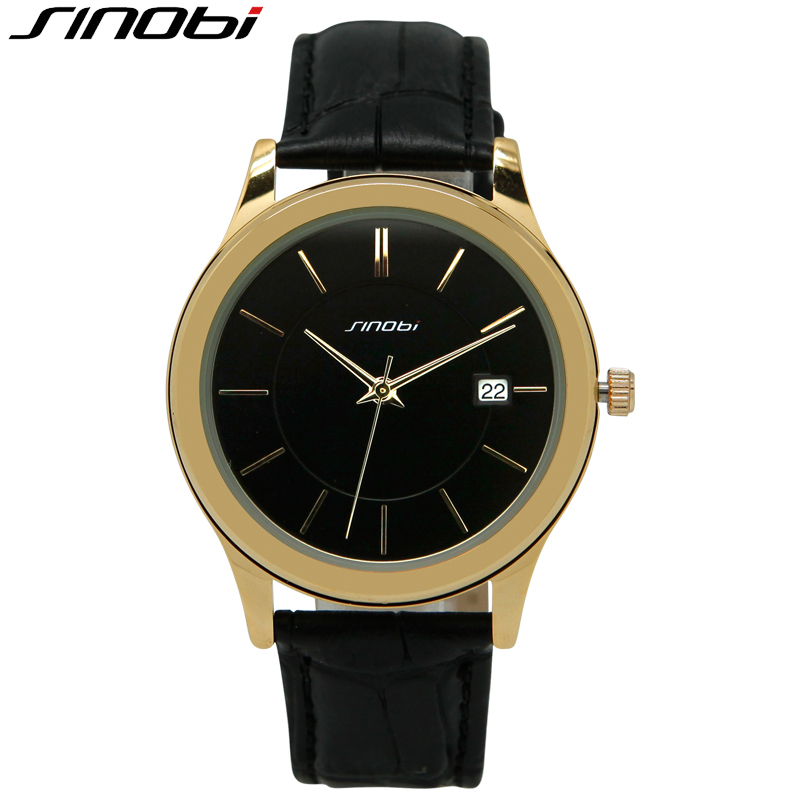 SINOBI Gold Business Best Watches For Men Orologi Uomo Office Casual Men Clock Outdoor Elegant Top Quality Wristwatch Mens 2016<br><br>Aliexpress
