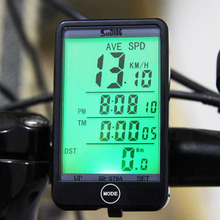 Hot Sale SD - 576A Waterproof Auto Bike Computer Light Mode Wired Bicycle Accessories Computer Speedometer LCD Backlight