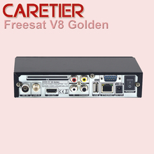 freesat V8 Golden COMBO Satellite Receiver HD DVB-S2 + DVB-T2 / DVB-C Twin Tuner Support USB WiFi CCcamd NEWcamd S2 T2