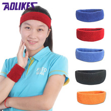 High Quality Cotton towel cloth Sports Sweatband Yoga Hair Bands Head Sweat Bands headband Sports Safety Wholesale(China)