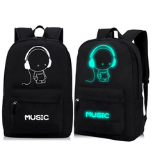 2017 High-Quality Oxford Night Fluorescent Light School Backpacks for Teenagers Child School Bags Boys Girls Free Shipping D081