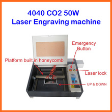 MINI 2d 3d crystal laser engraving machine LY 4040 co2 laser cutting machine 50W Super quality with all functions