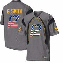 Nike 2017 Flag Fashion West Virginia Mountaineers Geno Smith 12 CollegeIce Hockey Jerseys(China)