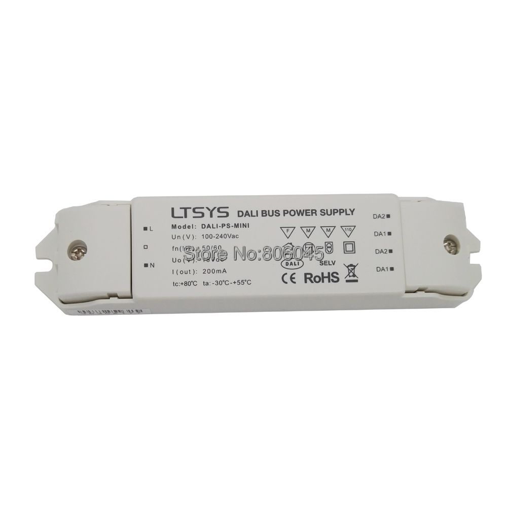LTECH DALI-PS-MINI DALI Bus Power Supply 100-240VAC 50/60Hz Input 15VDC 200mA Output DALI Dimming Driver for LED Lights<br>