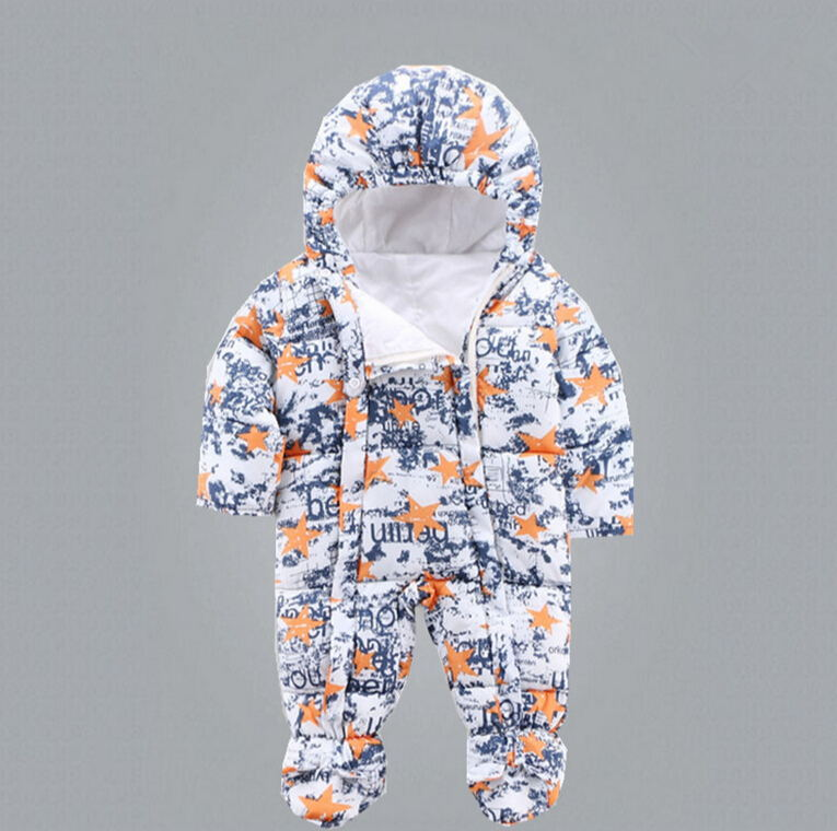 New arrival winter warm Baby rompers hooded thick baby winter clothes baby jumpsuit vetement enfant Roupas De Bebe J0127<br><br>Aliexpress
