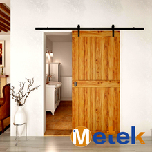 4.9FT/6FT/6.6FT Carbon steel interior sliding cheap interior solid wooden doors(China)