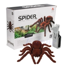 Buy Remote Control Creepy Soft Scary Plush Spider Infrared RC Tarantula Kid Gift Toy -B116 for $9.59 in AliExpress store