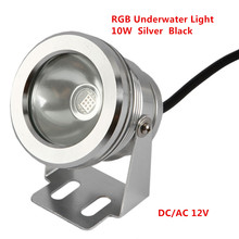 NEW Product 10W DC12V RGB LED Underwater Fountain Light Swimming Pool Pond Fish Tank Aquarium LED Light Lamp IP67 Waterproof(China)