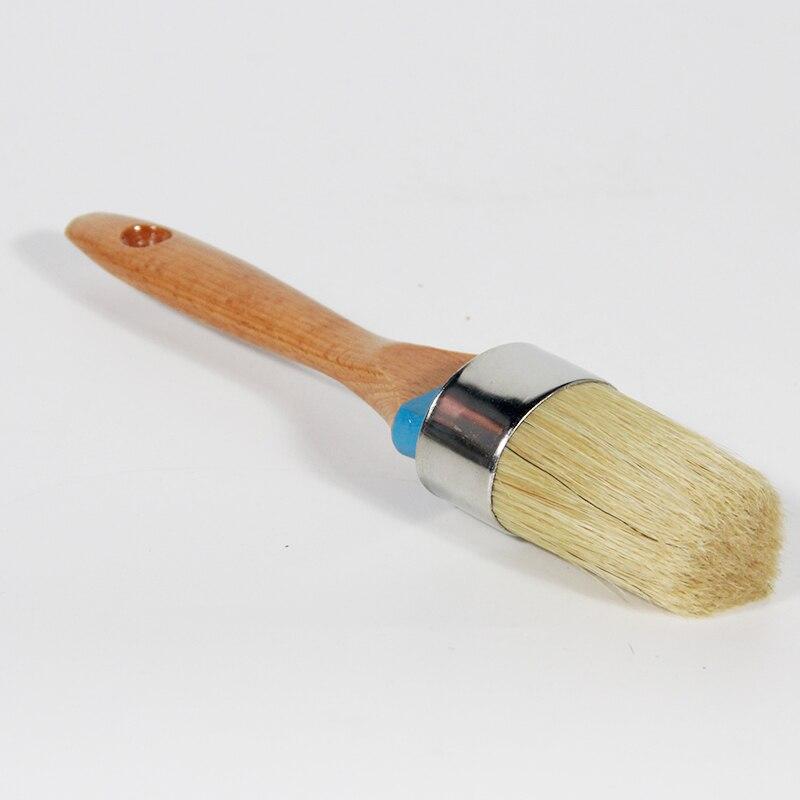 Painting Waxing Stencils Home Decor Folk Art MAXMAN 2 Piece Round Chalk /& Wax Paint Brush Set for Furniture