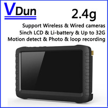 5-inch HD Portable 2.4G Wireless Mini DVR VD-TE968H--2.4G Support Wireless & Wired Camera,Video Receiver,Motion Detect Recording