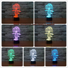 3D Cartoon Touch USB Color Change LED Kid Sleep Home Animal Perspective Nightlight Illusion Lamp Birthday Gift