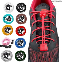 1 Pair Free Shipping Colorful Locking Shoe Laces Elastic Shoelaces Shoestrings Running/Jogging/Triathlon/Sports Fitness