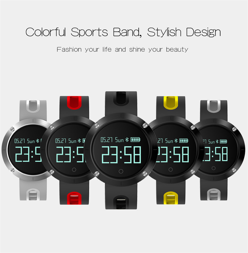 Teyo Heart Rate Monitor Smart Band Fitness Bracelet Blood Pressure Sleep Tracker Pedometer Bluetooth Wristband For Android IOS 5